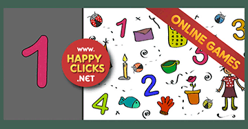 Kindergarten Mouse Skills Games - Play with Numbers 1 - 2 - 3 - 4 - 5