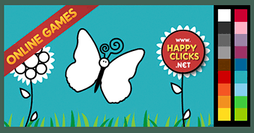 Free Coloring Games for Kids * Butterflies