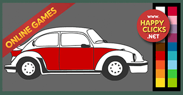 Online Coloring Games for Kids * VW Beetle