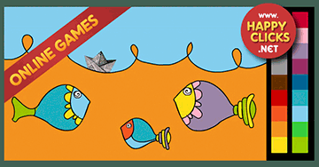 Online Coloring Game * Fishes