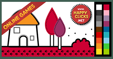 Online Coloring games for Preschoolers and Toddlers. Painting House ...