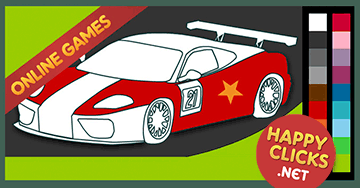 Coloring Games For Kids Racing Car
