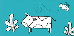 Online Coloring games for Toddlers and Preschoolers. Painting Cow. Free and fun!