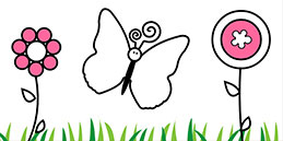 Online Coloring games for Toddlers and Preschoolers. Painting Butterflies. Free and fun!