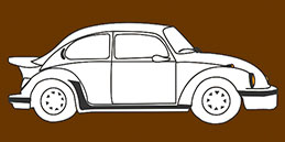 Online Coloring games for Toddlers and Preschoolers. Painting Cars. Free and fun!