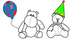 Online Coloring games for Toddlers and Preschoolers. Painting Birthday. Free and fun!