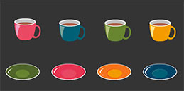 Free Games for Toddlers: Drag and Drop Game: Color Cups!