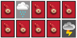 Memory Games for toddlers and preschoolers: Weather Symbols