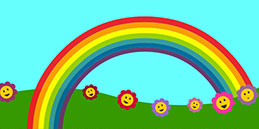 Games for babies | Beautiful rainbow!  | Happy Mothers and fathers