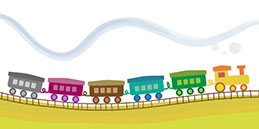Free Games for Toddlers and Babies: Colorful train