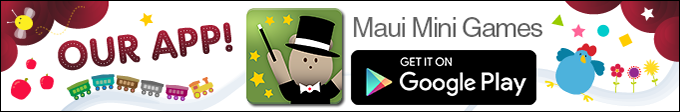 Maui Mini Games App for toddlers and preschoolers