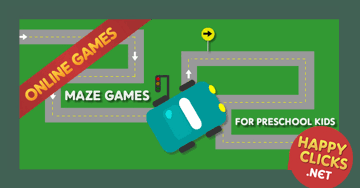 online car maze game for preschool kids