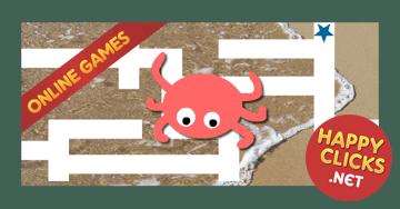 Online maze games for preschoolers: Crab Maze