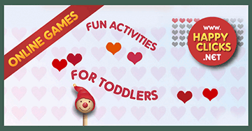 Preschool Games: Collecting hearts!