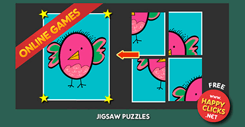 4 PIECES PUZZLE FOR CHILDREN