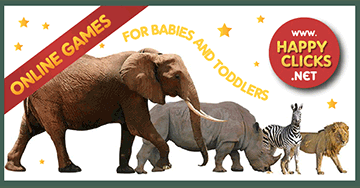 Animal Sounds, Educational game for babies and children 1 year , 2 years and 3 years old. Elephant