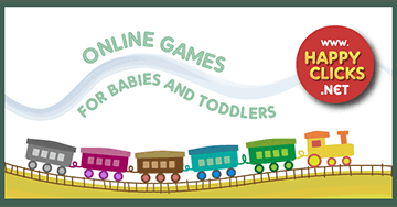 Free Games for Toddlers and Babies: Colorful train by HappyClicks.Net