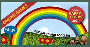 Games for Babies and Toddlers to play online: Making the rainbow